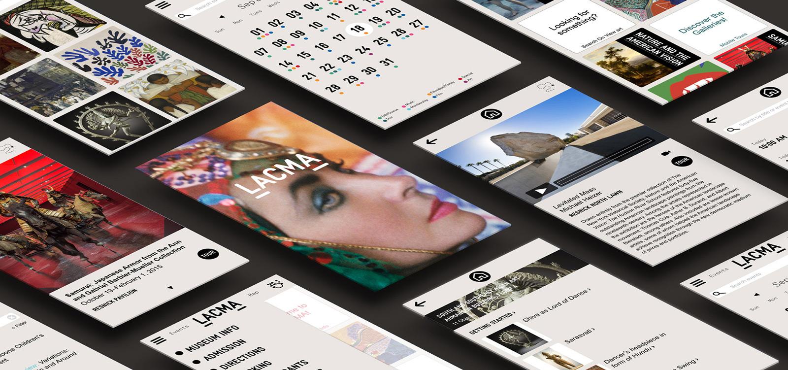 LACMA App Screens