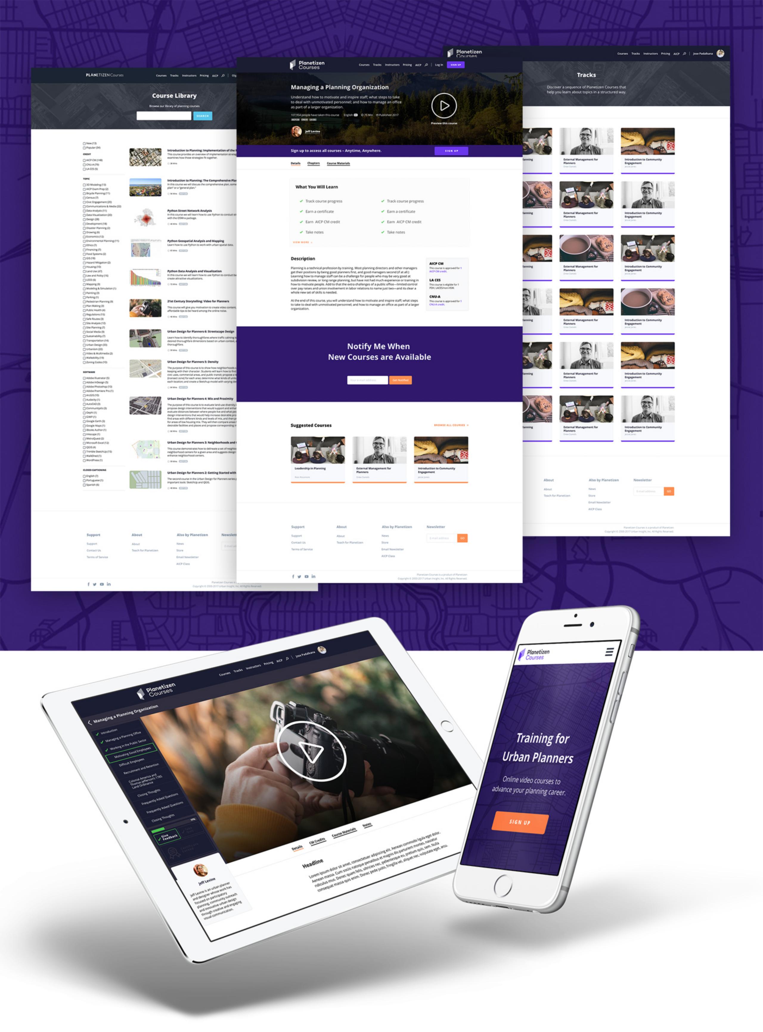 Planetizen Courses Desktop and Mobile