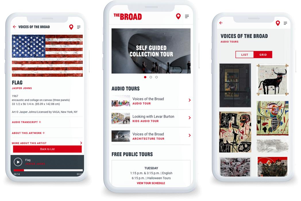 The Broad mobile app phone screenshots