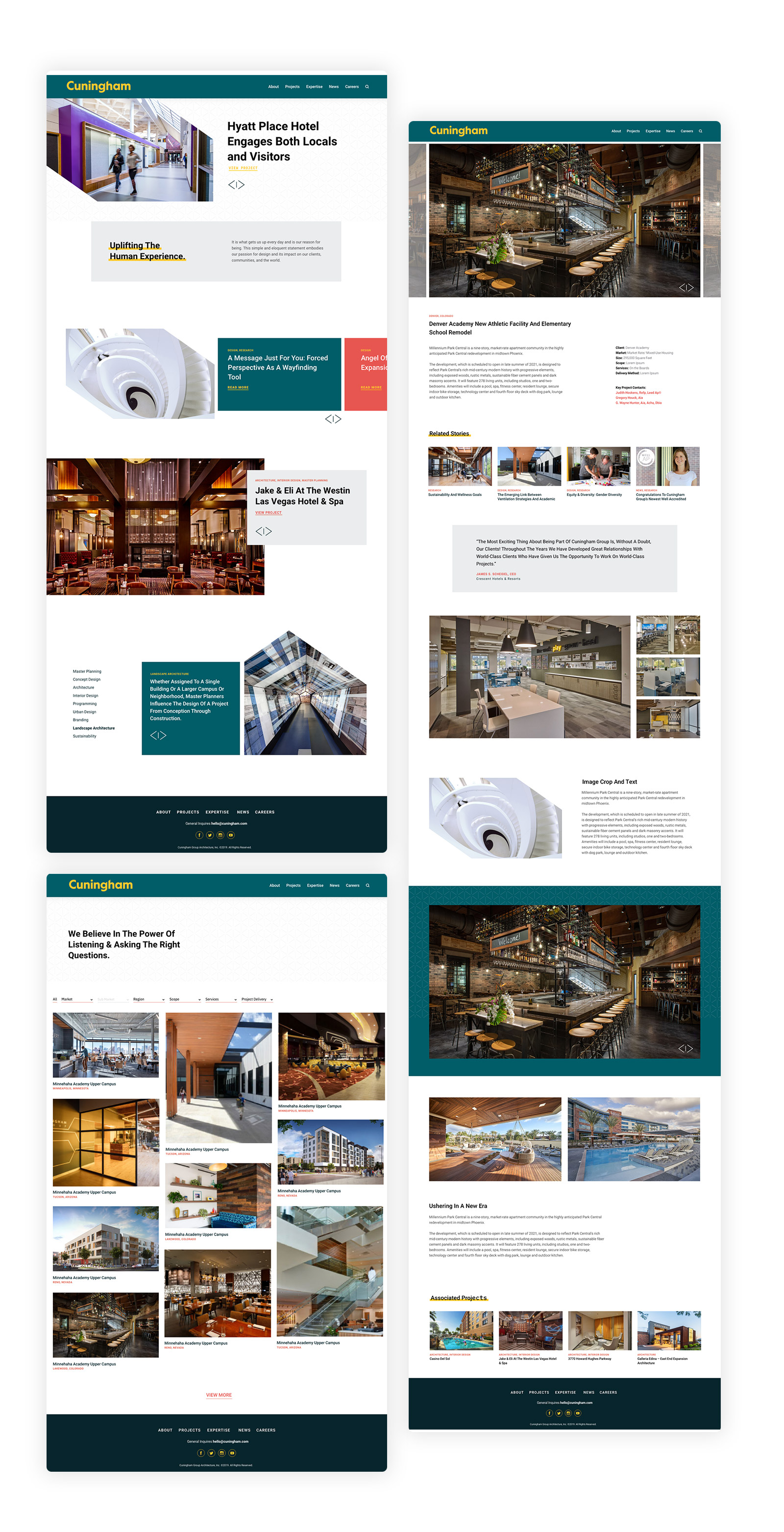 Cuningham Group Architects Websites