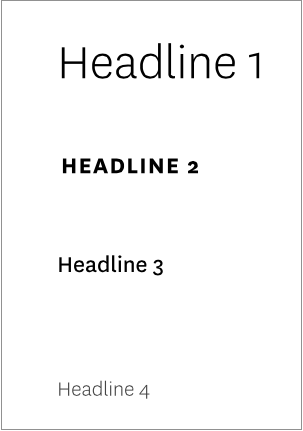 Image of headline hierarchy