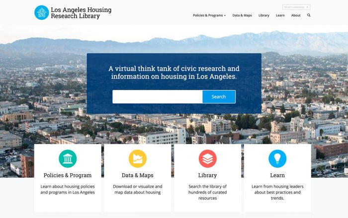 Los Angeles Housing Research Library Home page